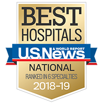 US News Best Hospitals badge 2018-19